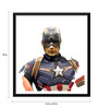 Tallenge Paper 16 x 0.5 x 18 Inch Hollywood Collection Captain America Painting Framed Digital Poster