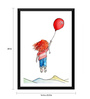 Tallenge Paper 16 x 0.5 x 24 Inch Floating with Balloons Framed Digital Poster