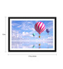 Tallenge Paper 17 x 0.5 x 12 Inch Candy Colored Hot Air Balloons in The Sky Framed Digital Poster