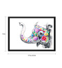 Tallenge Paper 17 x 0.5 x 12 Inch Indian Queen Elephant Framed Digital Poster