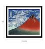 Tallenge Paper 17 x 0.5 x 12 Inch Japanese Art Woodblock Katushika Hokusai Red Fuji Southern Wind Clear Morning Framed Digital Poster