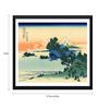 Tallenge Paper 17 x 0.5 x 12 Inch Japanese Art Woodblock Katushika Hokusai Shichiri Beach Framed Digital Poster