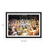 Tallenge Paper 17 x 0.5 x 12 Inch Krishna Enjoys Lunch with The Cowherd Boys Framed Digital Poster
