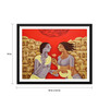 Tallenge Paper 18 x 0.5 x 14 Inch Contemporary Indian Art Love in Varanasi Framed Digital Poster
