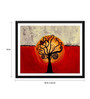 Tallenge Paper 18 x 0.5 x 14 Inch Contemporary Indian Art Tree of Life Framed Digital Poster