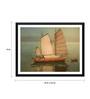 Tallenge Paper 18 x 0.5 x 14 Inch Japanese Art Yoshida Sending Boats Framed Digital Poster