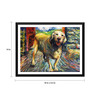 Tallenge Paper 18 x 0.5 x 14 Inch Oil Painting of A Dog Framed Digital Poster