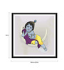 Tallenge Paper 18 x 0.5 x 18 Inch Baby Krishna with Flute Framed Digital Poster