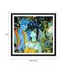 Tallenge Paper 18 x 0.5 x 18 Inch Enchanting Krishna with Radha Framed Digital Poster