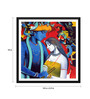 Tallenge Paper 18 x 0.5 x 18 Inch Enchanting Krishna with Radha Painting Framed Digital Poster