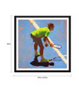 Tallenge Paper 18 x 0.5 x 18 Inch Spirit of Sports Abstract Painting Tennis Roger Federer Framed Digital Poster