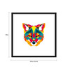 Tallenge Paper 18 x 0.5 x 18 Inch What Does The Fox Say Framed Digital Poster