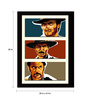 Tallenge Paper 20 x 0.5 x 30 Inch Hollywood Collection The Good The Bad & The Ugly Graphic Art Framed Digital Poster