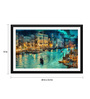 Tallenge Paper 24 x 0.5 x 15 Inch A Beautiful View of Venice Framed Digital Poster