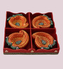 Tanariri Hastakala Multicolour Diya - Set of 4