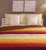 Tangerine Brown & Beige Cotton Queen Size Comforter