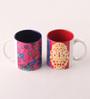 Tangerine Desi Beat Porcelain 250 ML Mugs - Set of 2