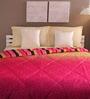 Tangerine Milticolour Cotton Queen Size Comforter