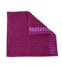 Tangerine Purples Cotton 12 X 12 Face Towels - Set of 4