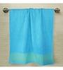 Tangerine Tango Blue Cotton Bath Towel