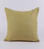 Tasar Green Pure Silk 16 x 16 Inch Zippered Cushion Cover