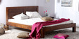 Burlington Queen Bed in Provincial Teak Finish by Woodsworth