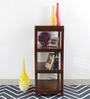 Teak Wood Book Shelf with Horizontal Panel in Honey Brown Colour by VarEesha