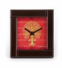 The Elephant Company Warli Tree Orange Table Clock