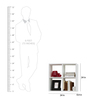 Teodulo Contemporary Wall Shelf in White by CasaCraft