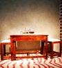 Morton Coffee Table Set in Honey Oak Finish by Woodsworth