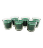 Tezerac Green Glass Jasmine Wax Candle - Set of 6