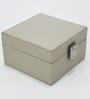 Tezerac Wood & Metal White Bone Small Jewellery Box