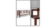Richey Three Seater Sofa in Honey Oak Finish by Woodsworth