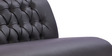 Three Seater Sofa with Tufted Back in Black Colour by Durian