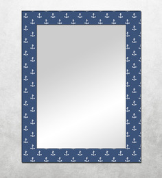 The Attic Navy Blue MDF Sanpete Framed Mirror