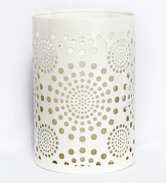 The Esthetic Label Cream Finish Metal Tea Light Holder