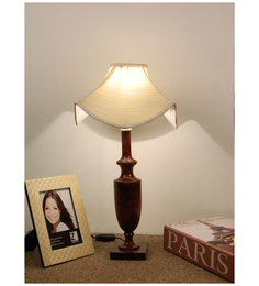 The Lamp Store Off White Poly Cotton Classic Table Lamp