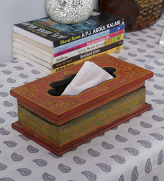 The Mikky Shoppe Station Multicolour MDF Tissue Box - 1530887