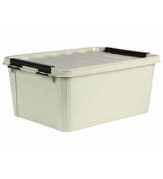 The Quirk Box Multipurpose Plastic Olive 20 L Storage Box With Lid