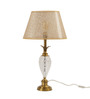 The 7th Galaxy Beige Antique Finish Brass & Parchment Table Lamp