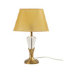 The 7th Galaxy Beige Antique Brass Finish Parchment & Crystal Table Lamp