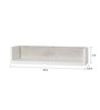Teofilo Contemporary Wall Shelf in White by CasaCraft