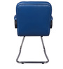 The Azul Low Back Visitor Chair In Blue in Blue Color By VJ Interior