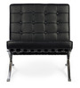 The Barcelona Leisure Chair in Black Colour by HomeHQ