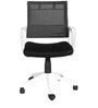 The Belleza Ergonomic Medium Back Chair in White color by VJ Interior