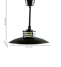 The Black Steel Art Deco Extendable Ceiling Industrial Lamp