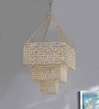 Macario Chandelier in Gold by CasaCraft
