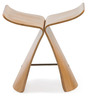 The Butterfly Stool in Natural Finish by HomeHQ