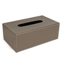 The Decor Mart Champagne Faux Leather Tissue Box