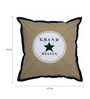 The Decor Mart Grey Cotton 17.7 x 17.7 Inch Abstract Cushion Cover